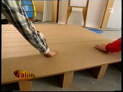 montage du lit du mobilier en home carton youtube. Black Bedroom Furniture Sets. Home Design Ideas