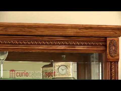 Pulaski model 20484 curio cabinet youtube for Curio cabinet spot