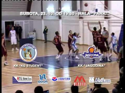 Najava utakmice KG Student - KK Jagodina