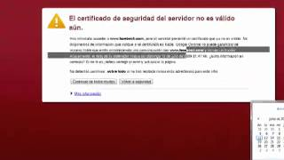 Error De Certificados De Seguridad