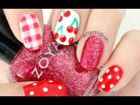 Cherry Picnic Nails