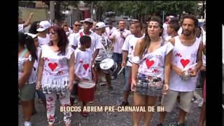 Blocos de rua abrem o pr�-carnaval de Belo Horizonte