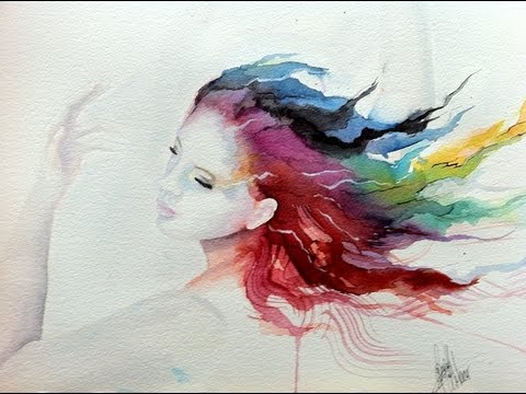Speed painting watercolor 39 the dancer 39 youtube for Watercolor pictures to paint