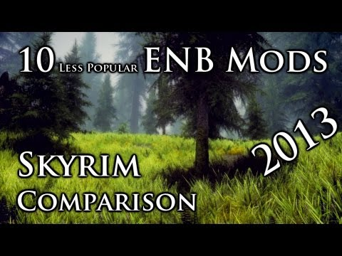 Skyrim: 10 ENB MODS - Less Popular ENB mods COMPARISON [2013]