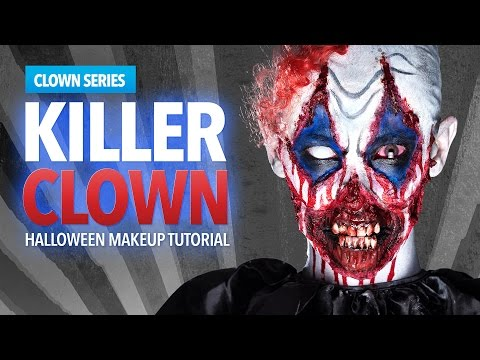 Killer Clown Halloween Makeup Tutorial