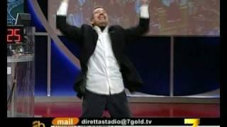 L'esultanza di Claudio Zuliani dopo il gol di Del Piero al Chievo