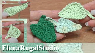 Crochet Leaf How To Tutorial 5