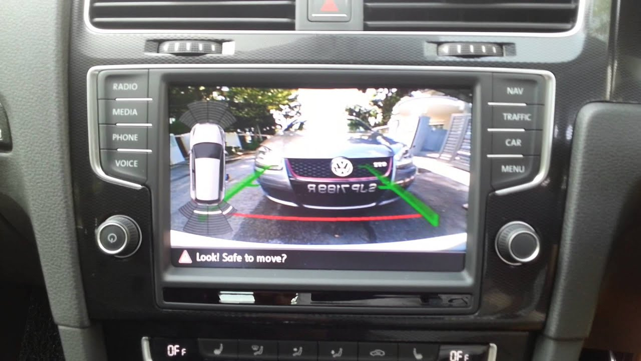 golf 7 gti emblem reverse camera on discover pro youtube. Black Bedroom Furniture Sets. Home Design Ideas