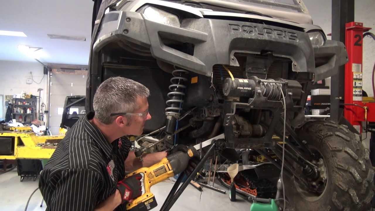 Polaris Ranger front suspension and wheel bearing rebuild ...