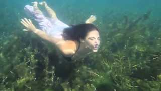 Cute Women Dance Underwater In Barton Springs