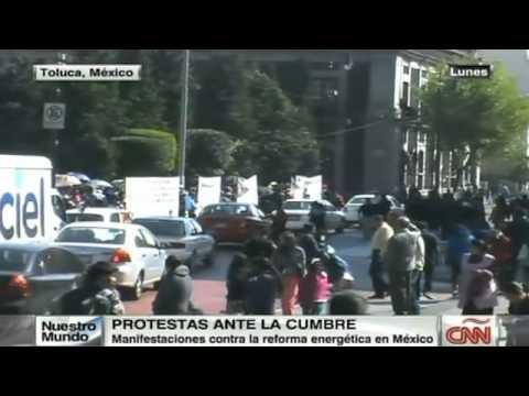 Advierten protestas en cumbre del TLC en Toluca