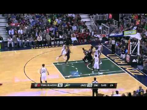 Block of the Night  Jeremy Evans   Blazers vs Jazz   December 9, 2013   NBA 2013 14 Season