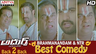 Brahmanandam Ntr Best Comedy Scence Back To Back In Adhurs