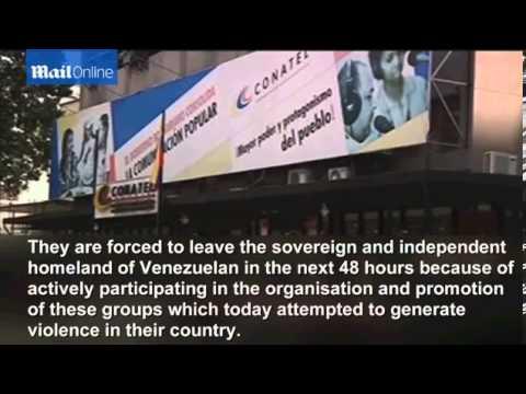 Venezuela expels three U S  diplomats for spurring protests