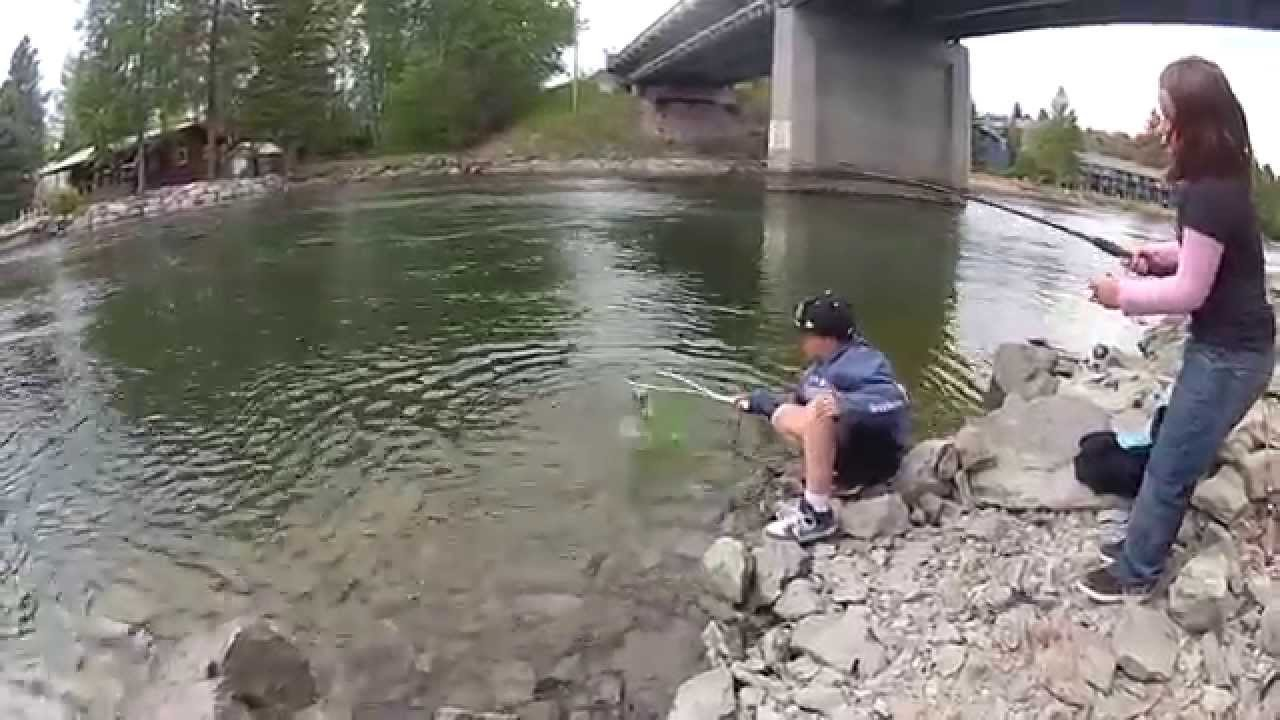 Fishing with the kids from shore with worms youtube for Montana out of state fishing license