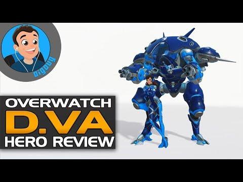 Overwatch D.VA Review. Overwatch Hero Guide D.VA gameplay!