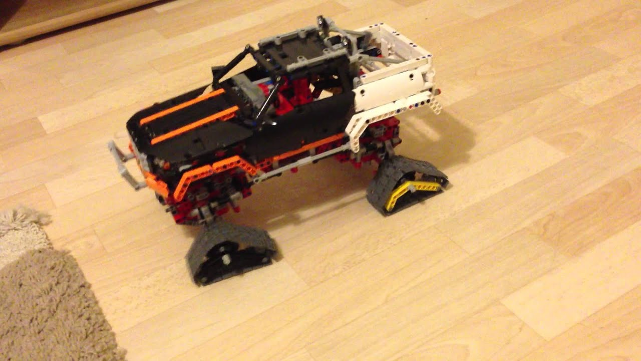 lego technic 9398 4x4 offroader crawler with chains youtube. Black Bedroom Furniture Sets. Home Design Ideas