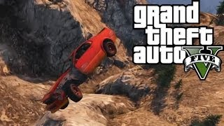 GTA 5 What Happens When You Mountain Climb In A Mustang