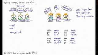 Past irregular verbs 3,bring-brought, buy-bought