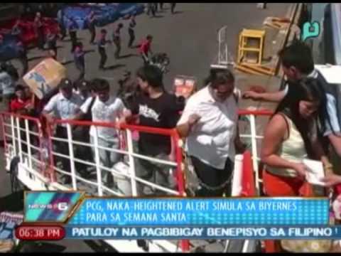News@6: PCG, naka-heightened alert simula sa Biyernes para sa Semana Santa