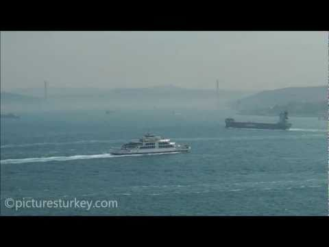 Bosporus Hazy View from Topkapi Palace in Istanbul - Turkey