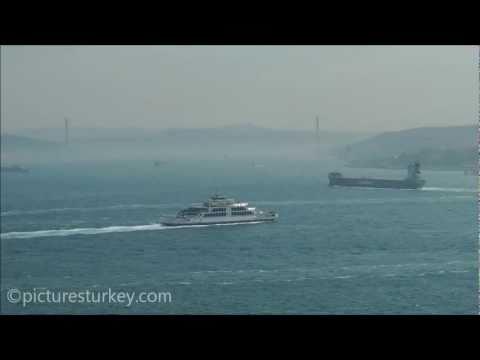 Bosporus Hazy View from Topkapi Palace in Istanbul - Turkey