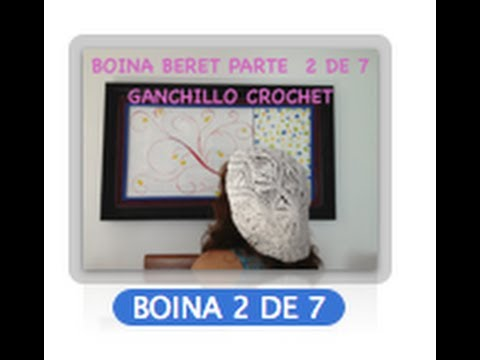 2 DE 7 COMO TEJER GORRO BOINA DISEO PIAS GANCHILLO CROCHET, DIY TUTORIAL