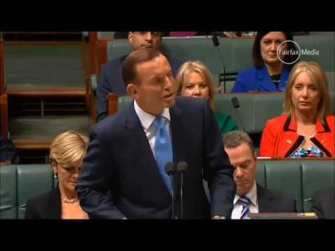Tony Abbott in question time denies there is an advertising campaign to sell the budget