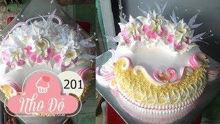 Cách Làm Bánh Kem Đơn Giản Đẹp ( 201 ) Cake Icing Tutorials Buttercream ( 201 )