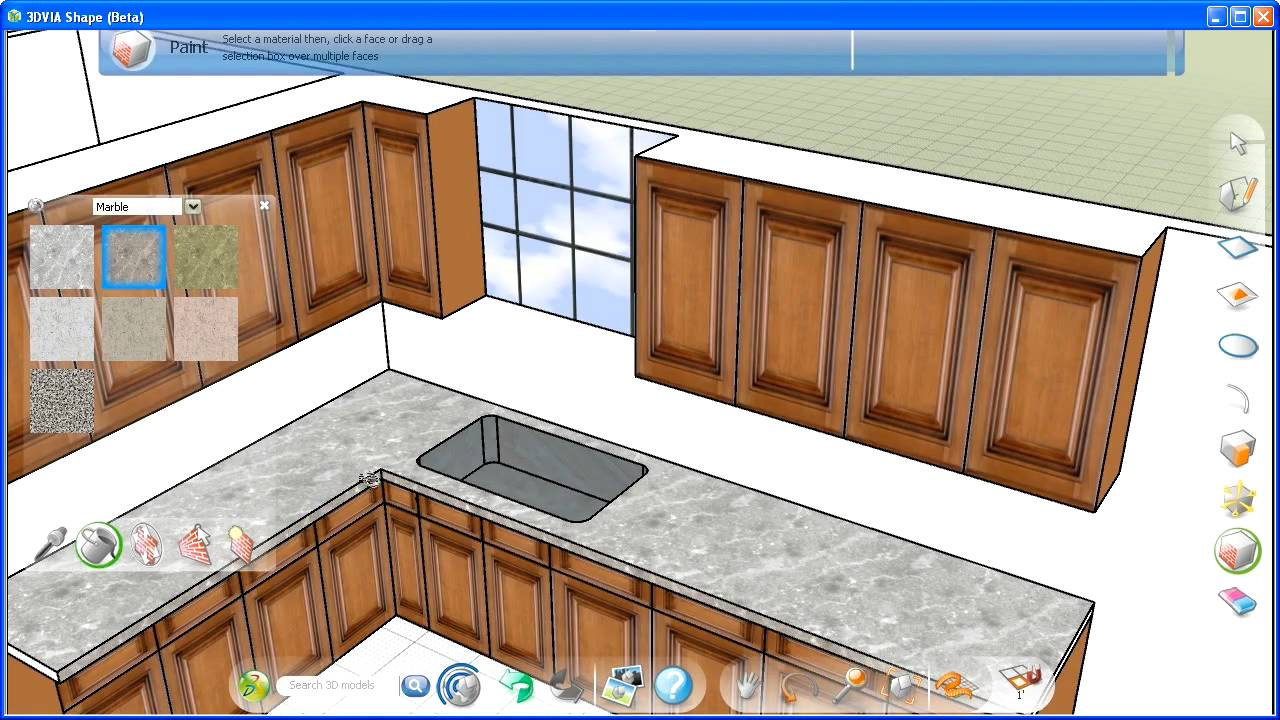 Virtual home remodeling with 3dvia part 1 youtube for Virtual home remodel
