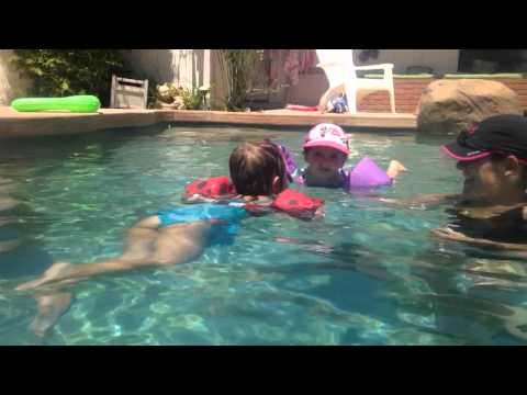 Tatum Takes Off - Raegan Floats and Giggles - Swimming