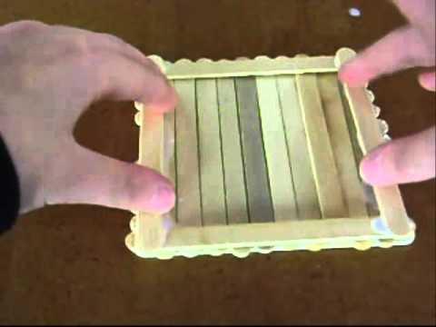 Diy como hacer una caja de palitos de helado d youtube - Como forrar una caja con tela ...