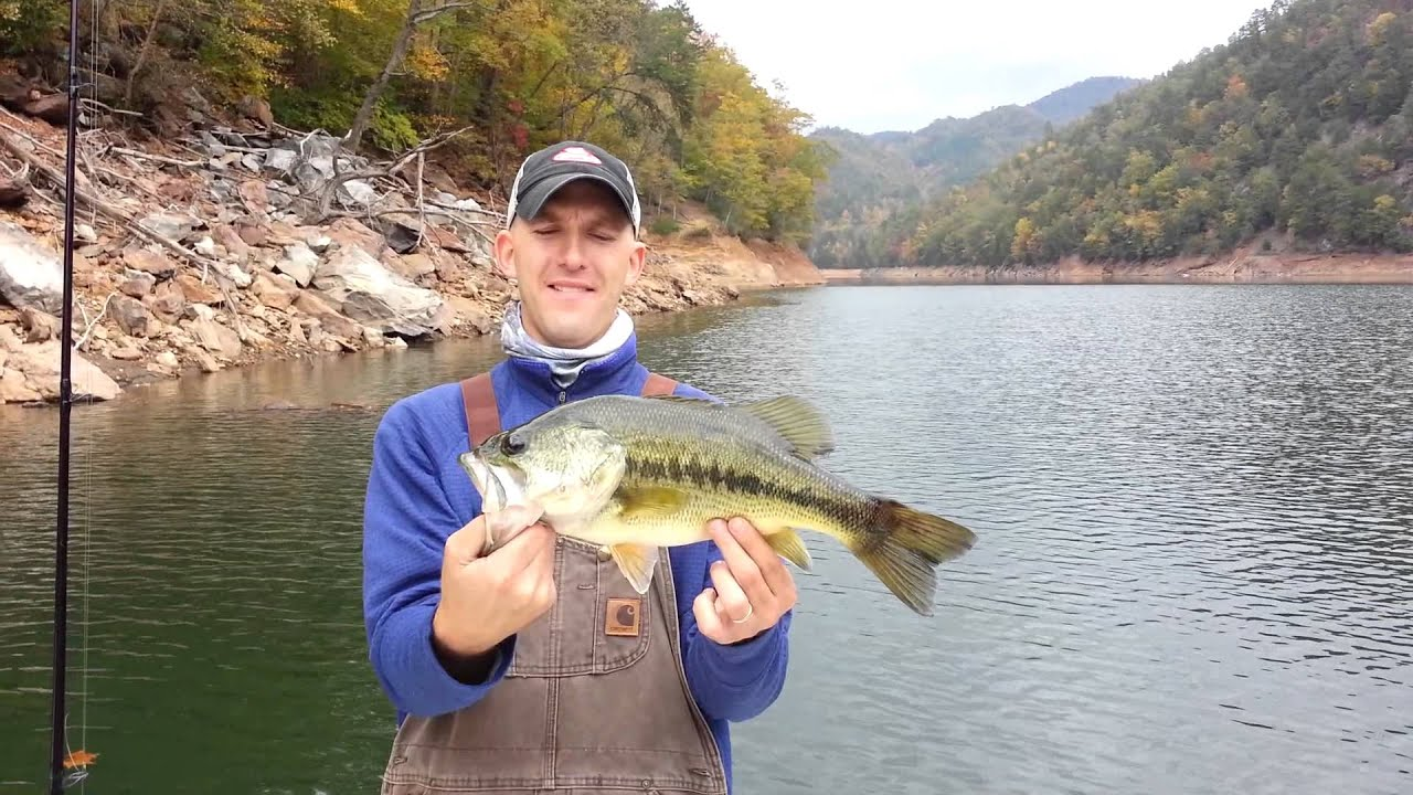 Fontana lake north carolina fall fishing 4lb largemouth on for North carolina out of state fishing license