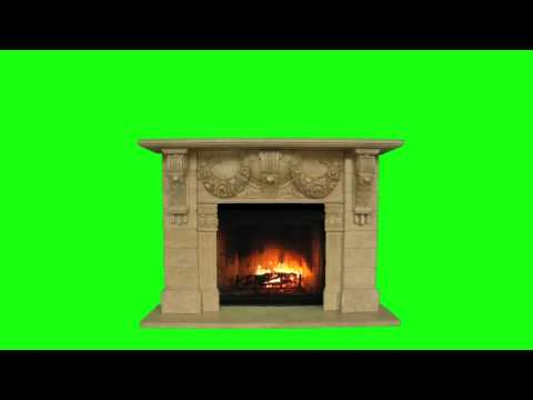 Fireplace green screened w. download link
