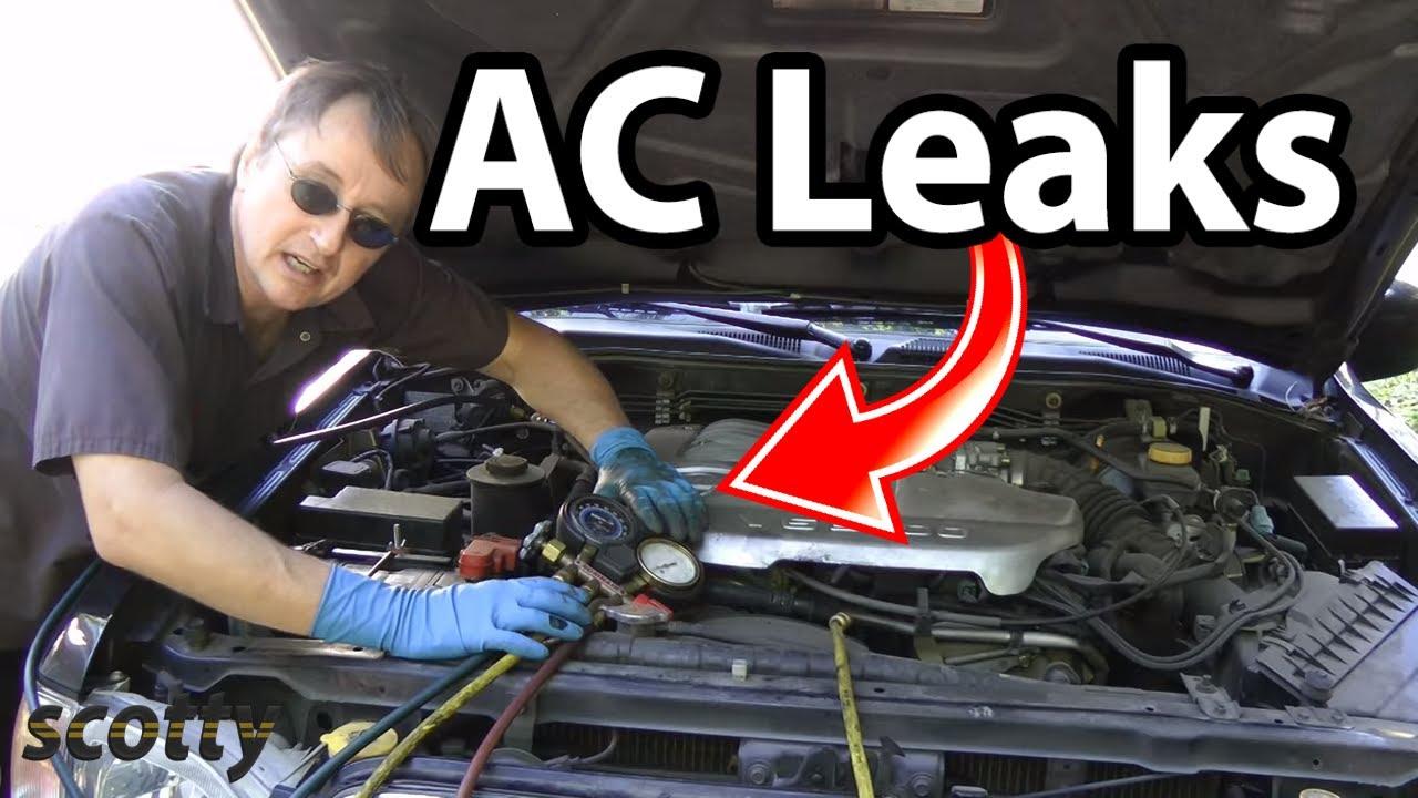 automotive air conditioning leak repair