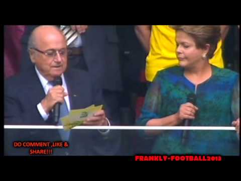 Sepp Blatter & Dilma Rousseff BOOED! Fifa Confederations Cup 2013 Brazil