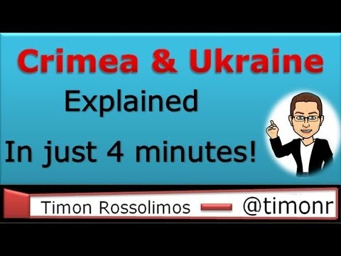 Crimea and Ukraine simply explained in just 4 minutes!