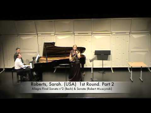 Roberts, Sarah. (USA) 1st Round. Part 2