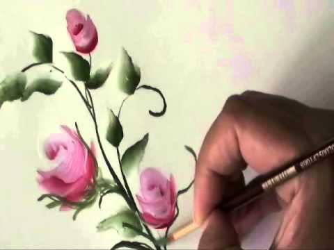 How to paint roses youtube for Easy way to paint a rose