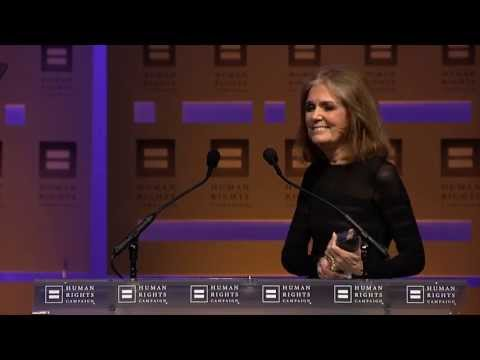 Gloria Steinem at the 2013 HRC National Dinner