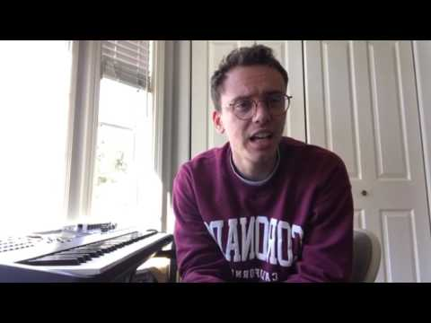 Logic playing piano on Instagram Live
