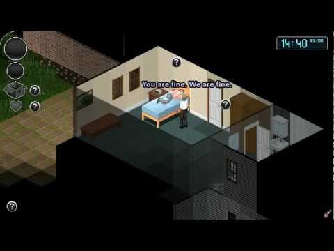 Забавное видео как Луис(L4D) выживал в Project zomboid