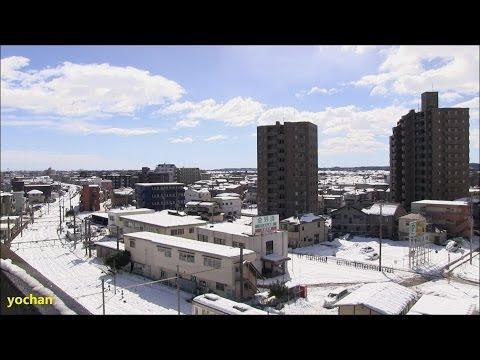 Heavy snow - Kumagaya, JAPAN (near Tokyo)  記録的な大雪なった埼玉県・熊谷市街地の様子
