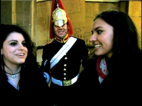 Making A Royal Guard Smile!
