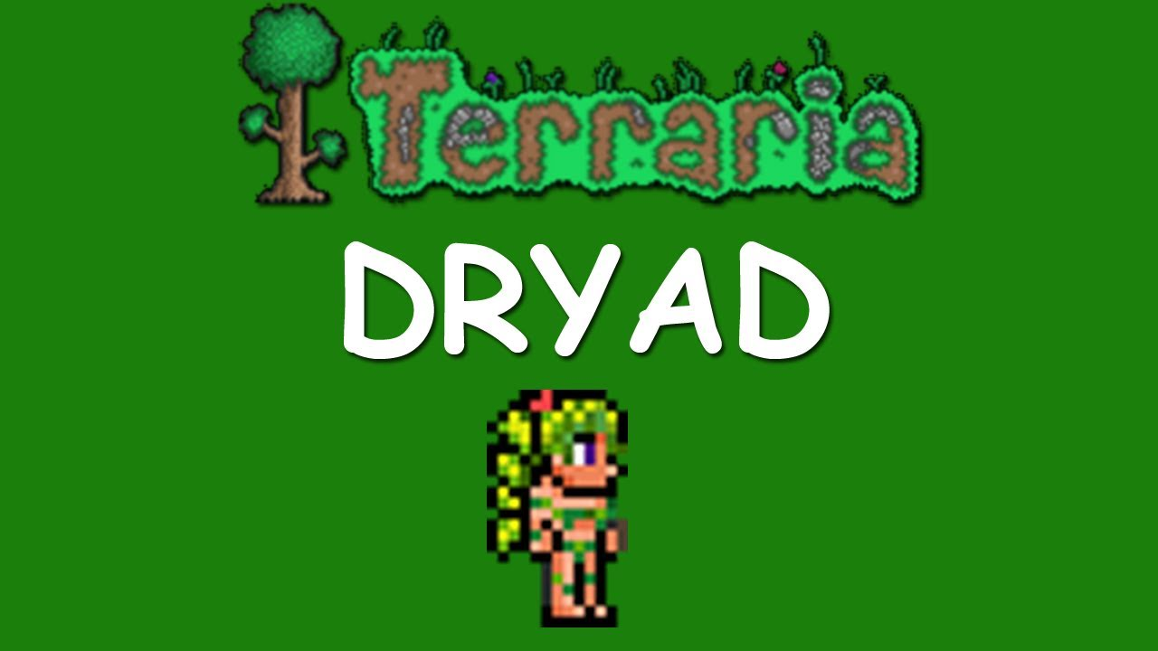 terraria how to get the dryad youtube