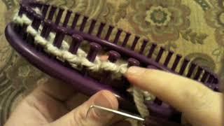 How To Loom Knit: Visor For Newsboy Hat 48 Peg Loom
