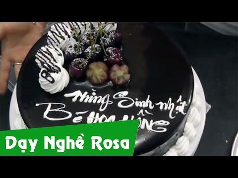 Trang trí bánh sinh nhật phủ Socola