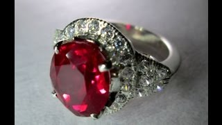 Natural Unheated Burmese Pigeon's Blood Ruby Ring 8.15 cts SOLD