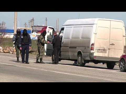 Crimean village of Chongar now a border checkpoint