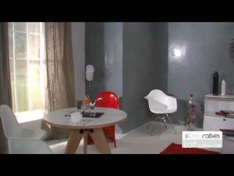 peinture loft beton cire les d coratives sur youtube. Black Bedroom Furniture Sets. Home Design Ideas